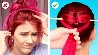 Video Last Minute Hairstyle Fix! DIY Hair Hacks for Busy Girls MP3, 3GP, MP4, WEBM, AVI, FLV September 2019