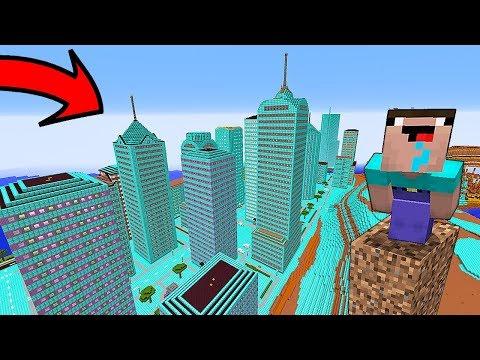 НУБ НАШЕЛ ГОРОД из АЛМАЗОВ В Майнкрафте! Minecraft Мультики Майнкрафт троллинг Нуб и Про онлайн видео