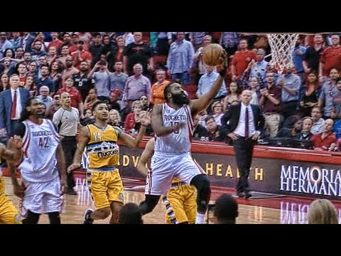 James Harden's incredible fullcourt sprint to beat Nuggets