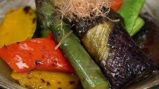 Summer Vegetable Yakibitashi 夏野菜の焼き浸し