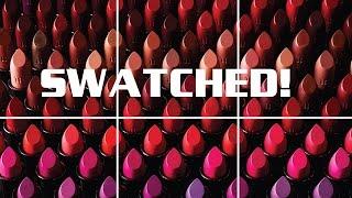 100 LIPSTICKS SWATCHED - URBAN DECAY VICE LIPSTICKS! by Wayne Goss