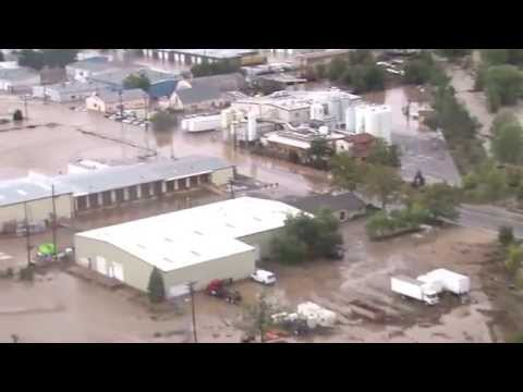 Aerial Shots - Footage filmed above Longmont, CO on 9/13/13 This is footage of the flooding that occurred in Longmont, CO. This was recorded the morning of the 13th around ...