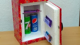 How to make a Mini  Refrigerator  (  Low cost DIY) Video