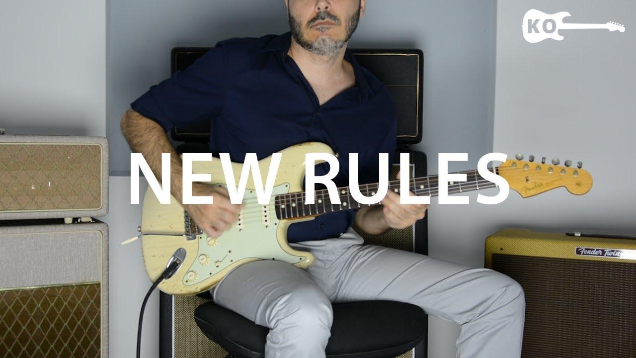 Dua Lipa – New Rules – Electric Guitar Cover by Kfir Ochaion