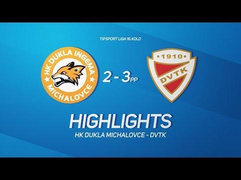 16. forduló: Dukla Michalovce - DVTK Jegesmedvék 2-3