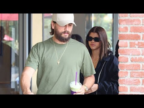 Sofia Richie Smiles For Compliments On New Hair While Out With Scott Disick