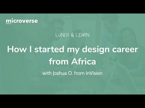 """""""How I started my design career from Africa"""" with Josh from InVision"""