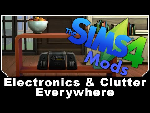 TheSims4 Mods – Electronics & Clutter Anywhere