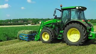 Video John Deere 5R Series Diesel Tractor With Front Loader Bale Handler MP3, 3GP, MP4, WEBM, AVI, FLV November 2017