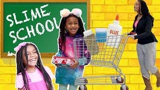 Video Slime School Field Trip ! Pretend Teacher FAIL  - New Toy School MP3, 3GP, MP4, WEBM, AVI, FLV September 2019