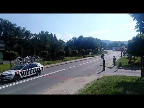 Tour de Polonge 2020 | Przejazd przez Budzów |