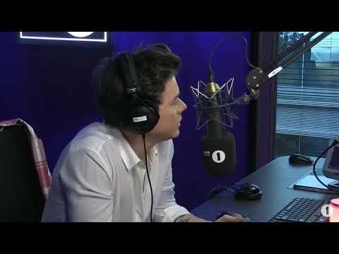 "harry styles talking about ""carolina"" on bbc radio1"
