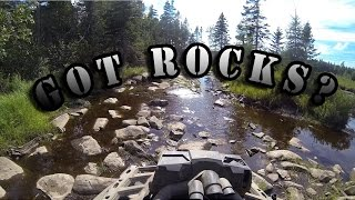 6. Got Rocks?  - A little rough for the Outlander 800 and Polaris RZR 800