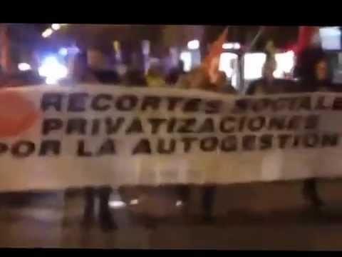 [CNT Aragón-Rioja] Manifestacion contra el congreso de privatizacion de la sanidad en Huesca