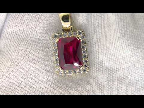 Lab Ruby Pendant | Rick Ross Jewelry Style | Hip Hop Bling