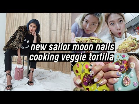 Nail salon - New Sailor Moon Nails, Cooking Veggie Lentil Tortilla SO GOOD OMG  DTV #85