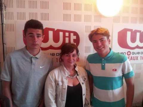 Bordeaux Elite Football Club - Médias : Théo CARPENTIER et Kelian DUMARTIN sur Wit FM