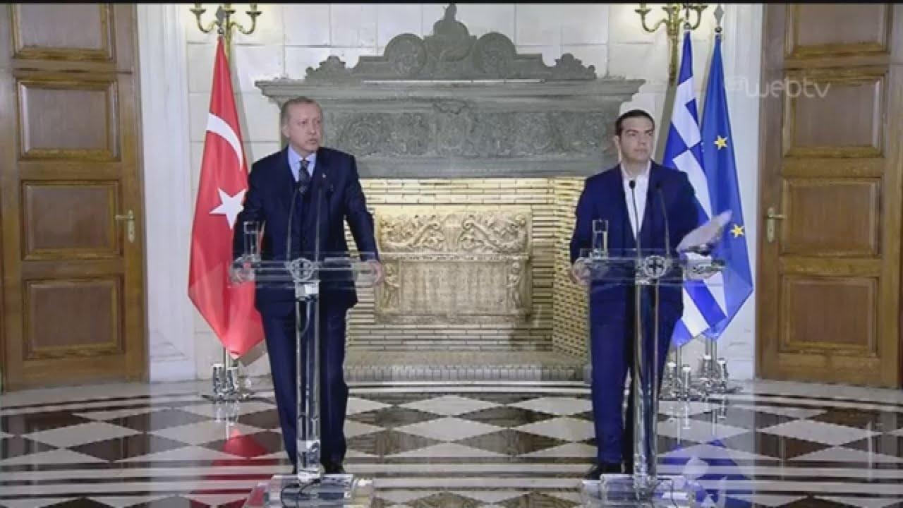 Δηλώσεις Τσίπρα-Ερντογάν: Απάντηση σε ερώτηση του δημοσιογράφου του ΑΠΕ-ΜΠΕ Νίκου Λιονάκη.