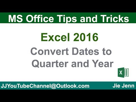 Convert Dates To Quarter and Year | Excel Tutorial