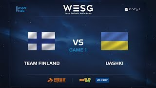 Team Finland против UAshki, Первая карта, WESG 2017 Dota 2 European Qualifier Finals