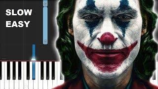 Joker - Bathroom Dance (SLOW EASY PIANO TUTORIAL)