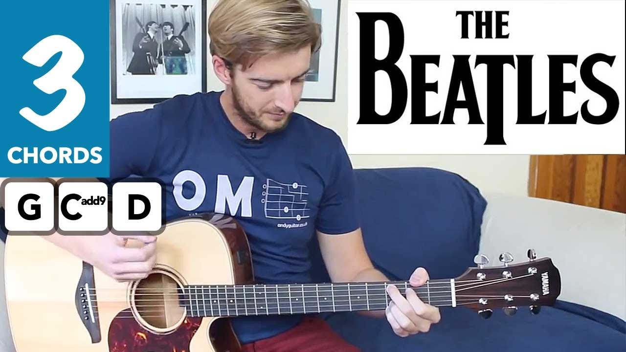 Love Me Do The Beatles EASY Guitar Tutorial – 3 Chord Song!