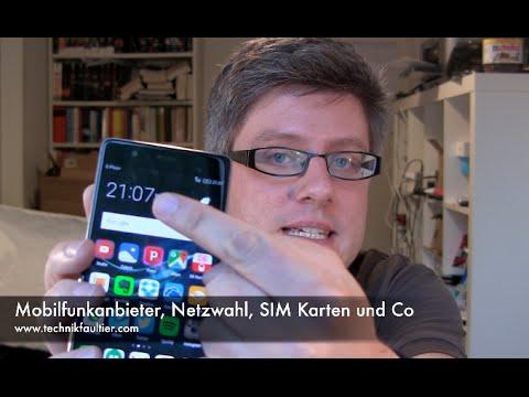 Mobilfunkanbieter, Netzwahl, SIM Karten und Co.