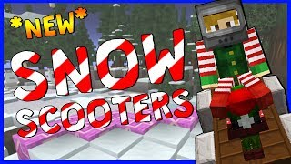 *NEW* CHRISTMAS MINI-GAME!   Snowscooters   Minecraft Minigame