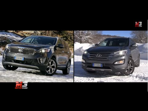 NEW KIA SORENTO VS HYUNDAI SANTA FE 2015 – SNOW TEST DRIVE ONLY SOUND