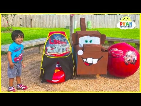 Lightning McQueen Giant Egg Surprise with Disney Cars Toys for kids