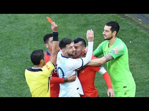 Lionel Messi Shocking RED CARD ● Argentina VS Chile