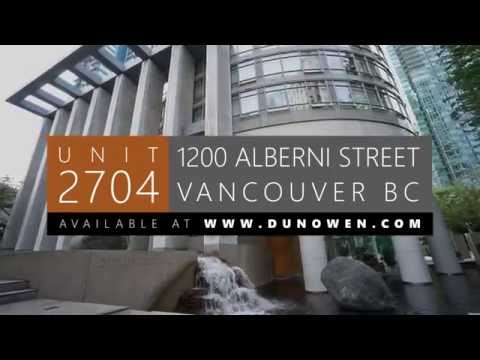 2704 - 1200 Alberni Street, Vancouver, BC (Video Walkthrough) | Dunowen Properties - pixio.ca