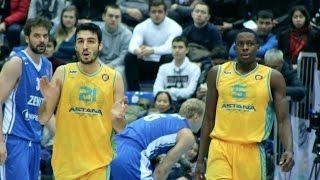 Обзор матча Единая лига ВТБ: «Астана» — «Зенит»