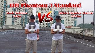 This video i do a quick test with using 2 RC for DJI Phantom 3 Standard, One RC with stock antenna and another one RC i have ...