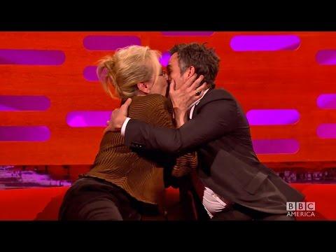Meryl Streep KISSES Mark Ruffalo! - The Graham Norton Show