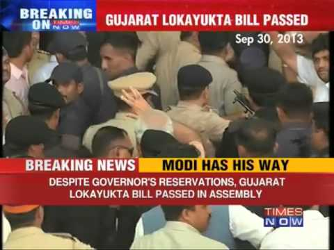 Lokayukta - Despite State Governor Kamla Beniwal's reservation, Gujarat Assembly on Tuesday (October 1) passed the Gujarat Lokayukta Commission Bill 2013.