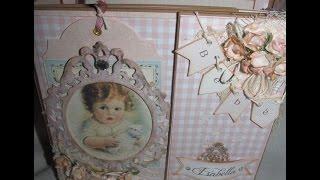 Delicado álbum ideado para las fotos y recuerdos de cada mes durante el primer año de vida de una bebita.