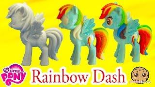 DIY Painting My Little Pony Rainbow Dash Statue Paint Craft Do It Yourself Video Cookieswirlc