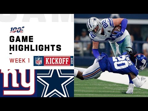 Giants vs. Cowboys Week 1 Highlights | NFL 2019