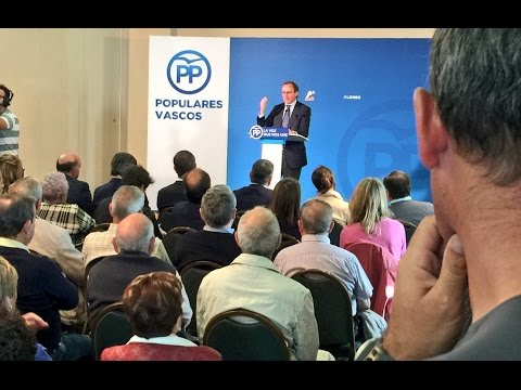 Alfonso Alonso explica por qué es útil el voto al PP Vasco