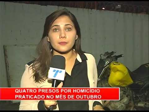 [RONDA GERAL] Quatro presos por homicídio praticado em outubro