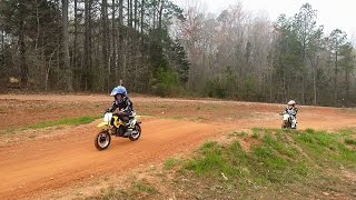 6. North Carolina Motorsports Park ---- Twin Suzuki JR50 Dirt Bikes Get Some Practice