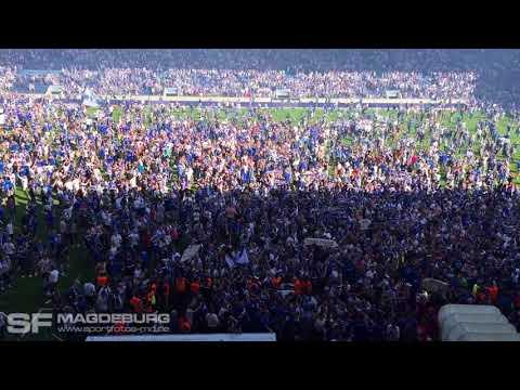 Video: Minuten vor dem Aufstieg des FCM in die 2. Liga (HD Apr. 2018)   SportfotosMagdeburg