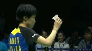 Semi Finals - China (Wang X.) Vs Thailand (Buranaprasertsuk) - Uber Cup 2012