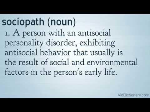 Definition of sosiopath?