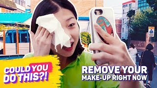 Video Remove Your Makeup Right Now | COULD YOU DO THIS?! | Koreaboo Studios MP3, 3GP, MP4, WEBM, AVI, FLV Juni 2019
