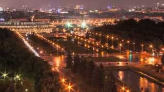 Time lapse из окна МГУ