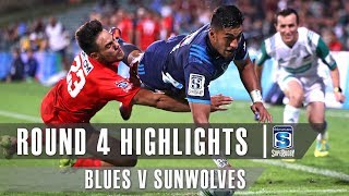 Blues v Sunwolves Rd.4 2019 Super rugby video highlights | Super Rugby Video Highlights