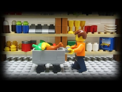 PEOPLE'S SUPERMARKET (O) - A lot of people go Lego shopping... but when an actual Lego man goes shopping, it brings in a whole new meaning. Music provided by Kevin MacLeod (incompetech...