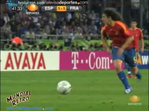 Resumen España vs Francia Alemania 06 - Mundial Retro